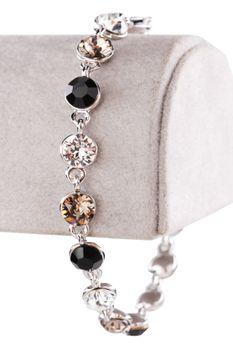 Civetta Spark Bracelet - Made with Mix Black & Grey Swarovski Crystal