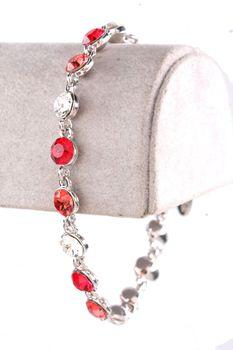 Civetta Spark bracelet - made with mix Red Swarovski crystal