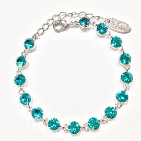 Civetta Spark bracelet - made with Caribbean Blue Swarovski crystal
