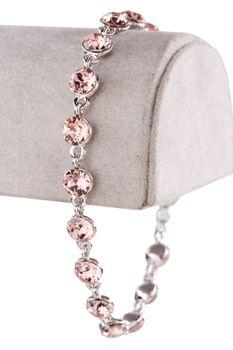 Civetta Spark Bracelet - Made with Vintage Rose Swarovski Crystal