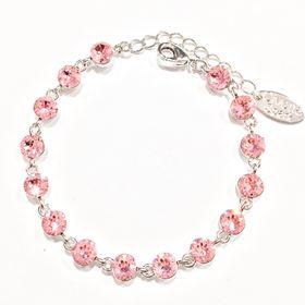 Civetta Spark bracelet - made with Pink Swarovski element crystal