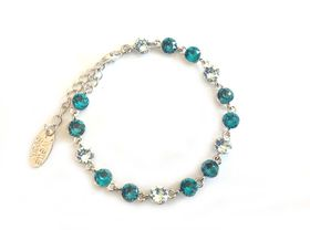 Civetta Spark bracelet - made with Indicolite Blue, light Azore and blue Zircon Swarovski element crystal
