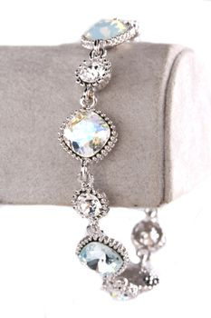 Civetta Spark Cushion-Cut bracelet - made with Silver shade and Golden Shadow Swarovski crystal