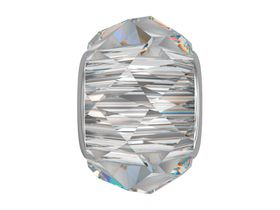 Civetta Spark Becharmed Briolette Crystal Bead - Made with Swarovski Crystal and Sterling Siver Chain