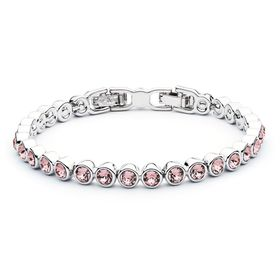 Civetta Spark tennis bracelet - Made with Light Rose Swarovski crystal