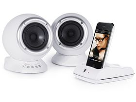 Roth Audio Charlie 2.0 Dual Powered Speakers & iPod/iPhone 4 Dock - White
