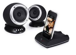 Roth Audio Charlie 2.0 Dual Powered Speakers & iPod/iPhone 4 Dock - Black