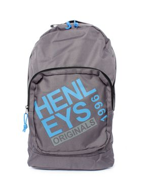 Henleys Originals Kurt Backpack in Charcoal and Blue