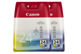 Canon BCI-24 Twinpack Cartridge - Colour x 2