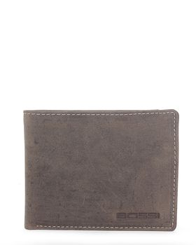 Bossi Leather Billfold Wallet in Brown
