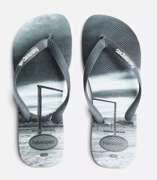 Havaianas Mens Hype Flip Flop Steel Grey. Loading zoom