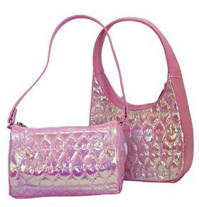 Fino Sweet Heart Girls Bling Puffy Bags Duo  5509+5526 - Pink