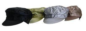 Fino Ladies Satin  army caps 4 Piece Value Pack - SKC-137