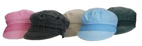 Fino Ladies Cotton Wash army caps 5 Piece clearance pack - SKC-136