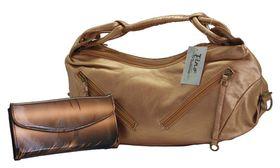 Fino Soft PU Mettalic Bag & Patent Leather Purse Value Pack 19950 / 305-310 - Bronze