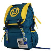 22L Wolf Horse Laptop Backpack K22 - Green & Yellow
