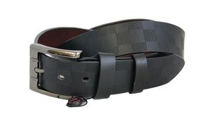 Fino Genuine Leather Mens Belt LB-02 - Black