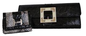 Fino Snakeskin Clutch Bag & Purse Value Pack - RF-08/gh5029 -A47-2015 - Black