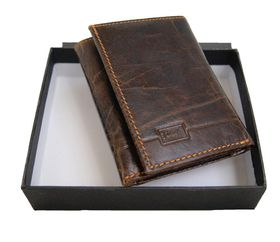 Fino 3 folds S Size Genuine Leather Wallet HL1303