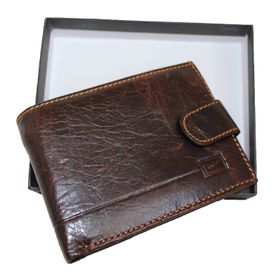 Fino Genuine Leather Wallet Hl-1302 - Brown