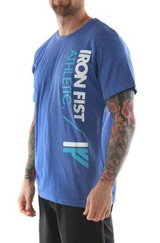 Iron Fist Athletic Tee in Blue