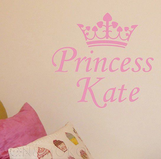 Bedight Wall Art Bedight Princess Crown With Name | Buy Online in ...