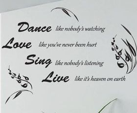 Bedight Dance Love Sing Live Vinyl Wall Art