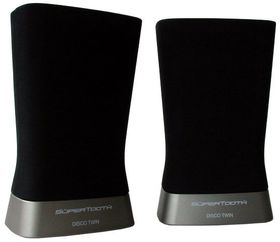 Supertooth Bluetooth Disco Twin Stereo Speakers - Black