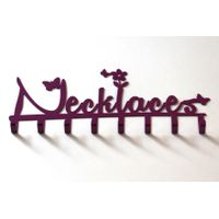 TrendyShop Necklace hook with Butterflies - Purple