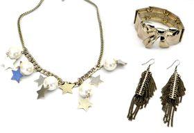 Fred Tsuya Pearly Silver Star Jewellery Set