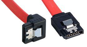 Lindy 0.2m SATA Cable 90 Degree Latch Type