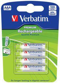 Verbatim Rechargeable NiMH AAA 930 mAh Batteries