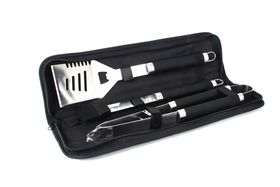 Kaufmann Stainless Steel Braai Set with Nylon Bag - 3 Piece