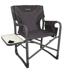 Kaufmann Chair - Steel Directors Flat Frame - Grey