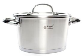 Russell Hobbs - Nostalgia Finesse Stainless Steel Casserole With Glass Lid - 20cm