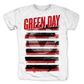 Green Day - Black White & Red All-over Mens T-Shirt(Size: XL)