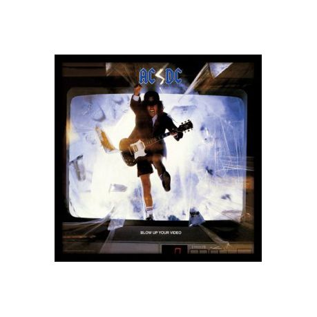Acdc Blow Up Your Video Framed Album Cover Print Parallel Import
