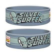 Marvel The Silver Surfer Rubber Wristband
