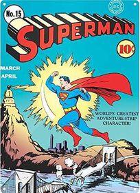 Superman Zap Large Steel Sign (Parallel Import)