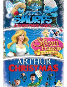 Arthur Christmas/Smurfs Christmas Carol/Swan Princess Xmas (DVD)
