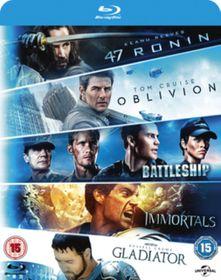 47 Ronin / Oblivion / Battleship / Immortals / Gladiator (Blu-ray)