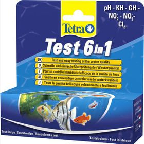 Marltons - Aquarium Test Strip 6-in-1 (PH,KH,GH,NO2,NO3,CL2)