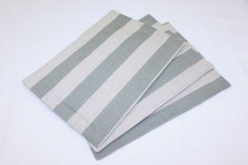 Balducci - Earthstone Placemats - Set Of 6 - V Stripe & Duck Egg