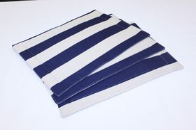 Balducci - Earthstone Placemats - Set Of 6 - V Stripe & Navy