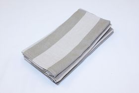 Balducci - Earthstone Napkins - Set Of 6 - V Stripe & Khaki