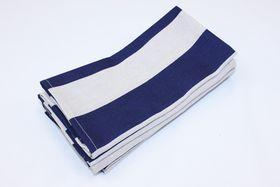 Balducci - Earthstone Napkins - Set Of 6 - V Stripe & Navy