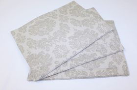 Balducci - Earthstone Damask Placemats - Set Of 6 - Khaki