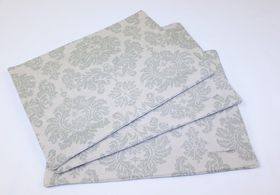 Balducci - Earthstone Damask Placemats - Set Of 6 - Duck Egg