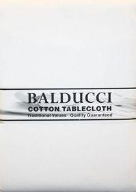 Balducci - Cotton White Tablecloth - 8 Seater