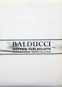 Balducci - Cotton White Tablecloth - 12 Seater